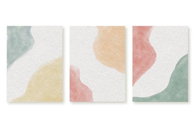 Aquarell abstrakte plakate Kostenlosen Vektoren