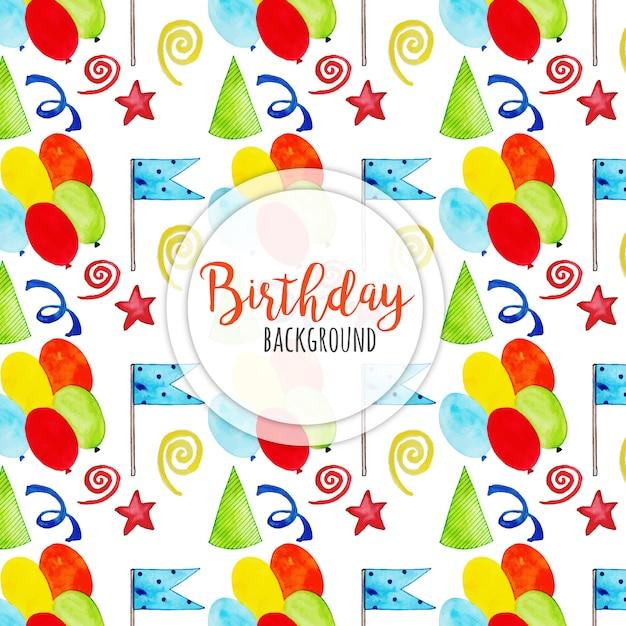Aquarell Alles Gute Zum Geburtstag Hintergrund Download Der