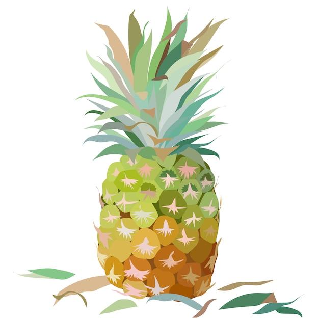 Aquarell Ananas Hintergrund Download Der Kostenlosen Vektor