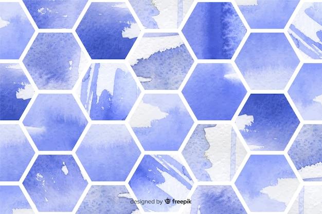 Aquarell bienenwaben mosaik hintergrund Kostenlosen Vektoren