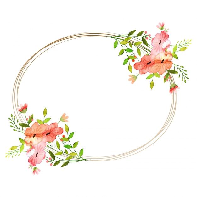 Aquarell Blumen Gesetzt Bunte Blumen Sammlung Mit