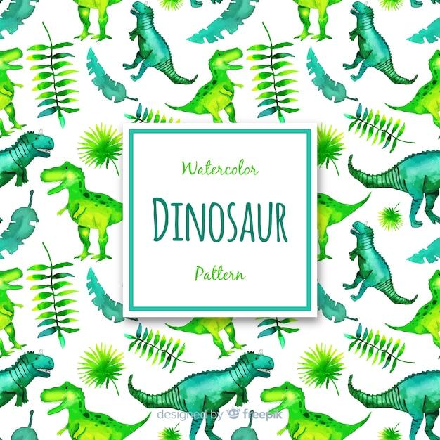 Aquarell-dinosaurier-muster Kostenlosen Vektoren