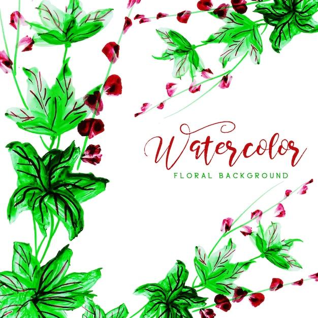 Aquarell floral mehrzweckhintergrund Kostenlosen Vektoren