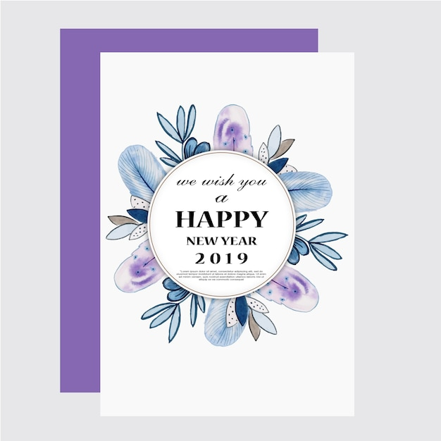 Aquarell florals grußkarte Premium Vektoren