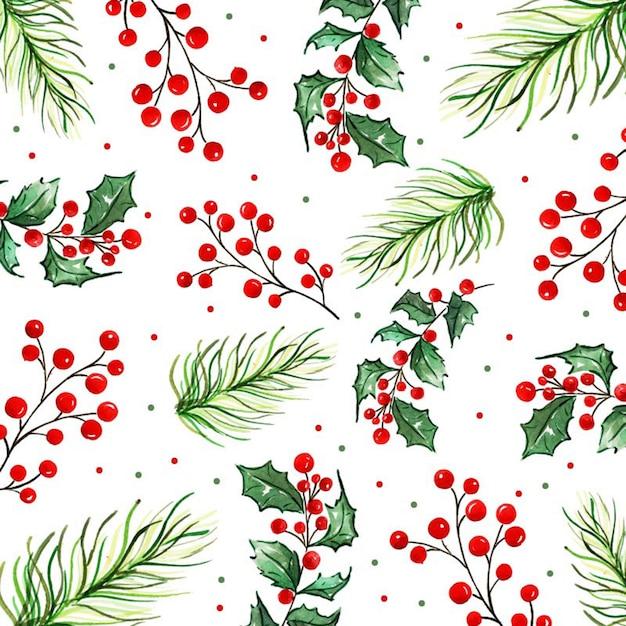 Aquarell frohe weihnachten hintergrund Premium Vektoren