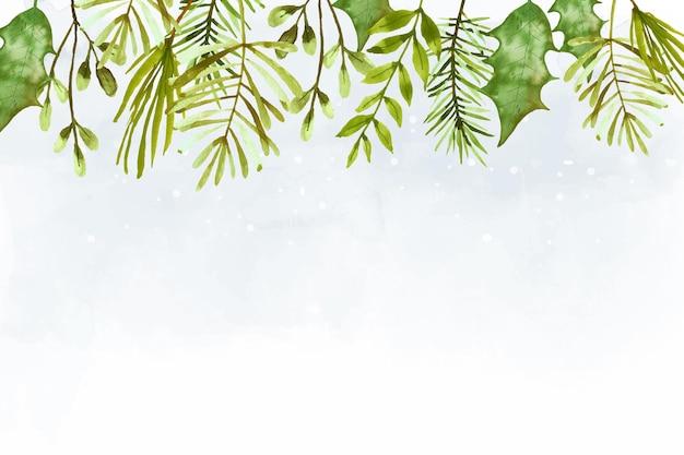 Aquarell frohe weihnachten tapete Kostenlosen Vektoren