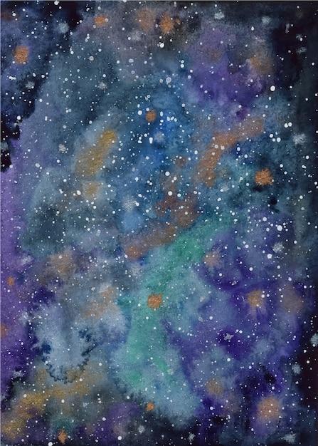 Aquarell galaxie hintergrund Premium Vektoren