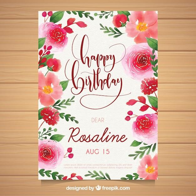 Geburtstagskarte mit blumen kostenlos