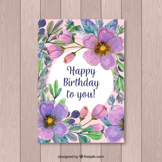 Geburtstagskarte blumen kostenlos
