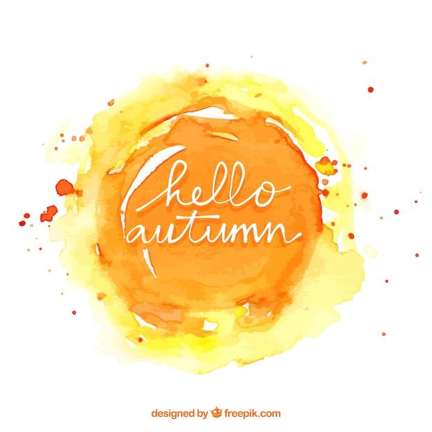 Aquarell Herbst Hintergrund Kostenlose Vektoren