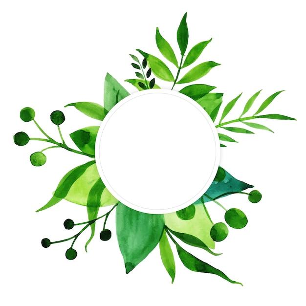 Aquarell jubiläum floral frame multi-purpose Kostenlosen Vektoren