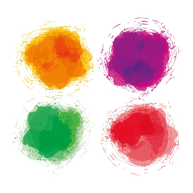 Aquarell kunstfarbe Premium Vektoren