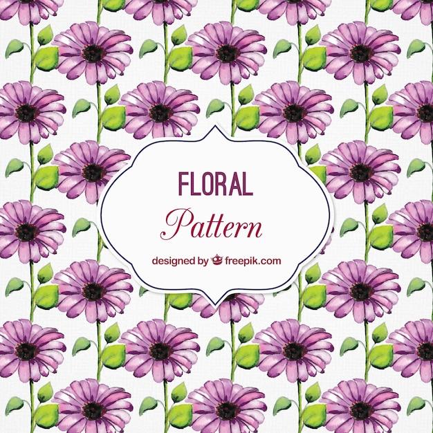 Aquarell muster mit lila bl ten download der kostenlosen for Lila tapete mit muster