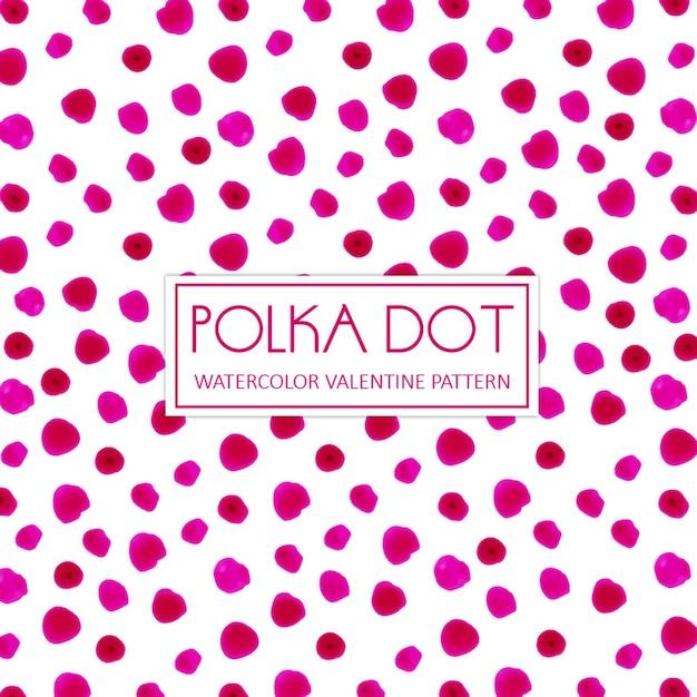 Aquarell pink polka dot hintergrund Kostenlosen Vektoren