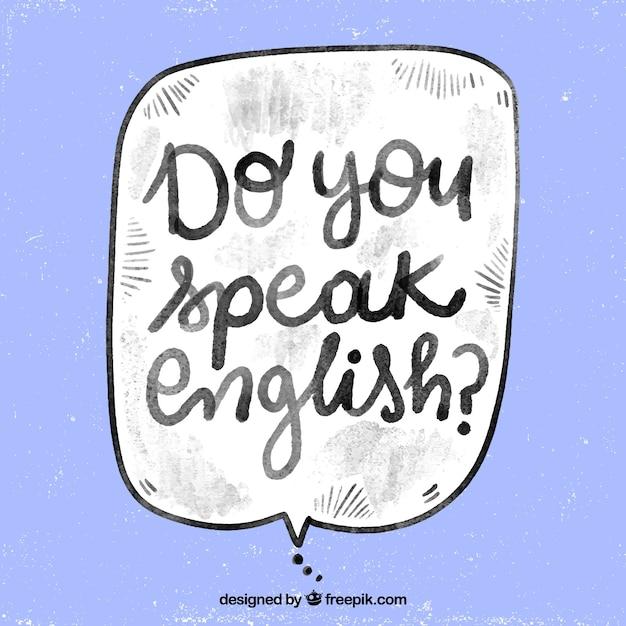 Aquarell sprichst du englische frage Kostenlosen Vektoren