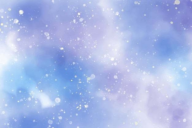Aquarell sternenklare nacht abstrakt Premium Vektoren