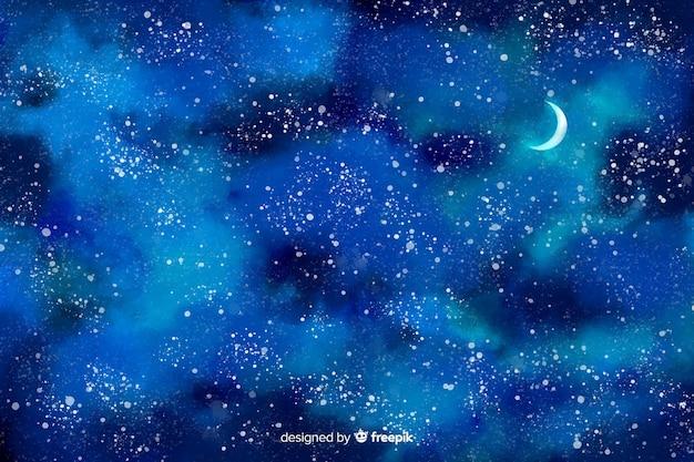 Aquarell sternenklare nacht hintergrund Kostenlosen Vektoren