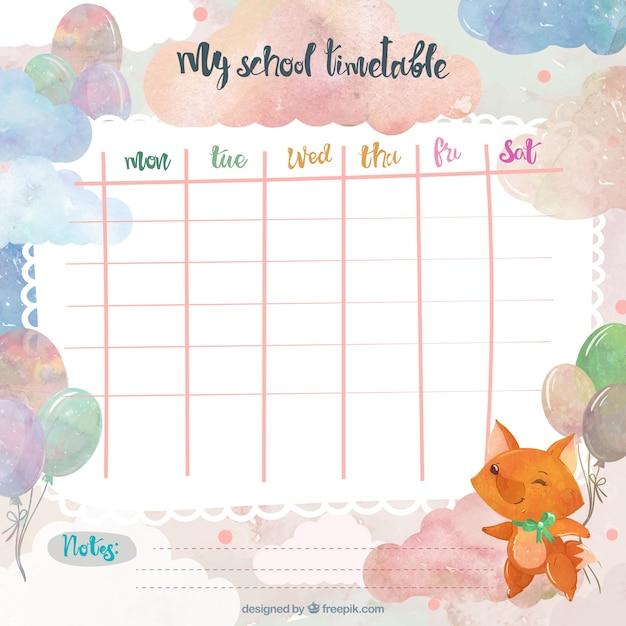 cute weekly schedule template