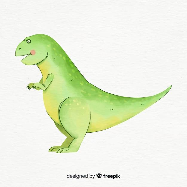 Aquarell t-rex hintergrund Kostenlosen Vektoren