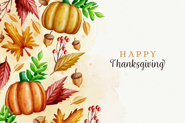 Aquarell thanksgiving hintergrund Premium Vektoren