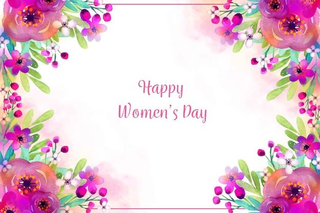 Aquarell-thema für womens day event Kostenlosen Vektoren