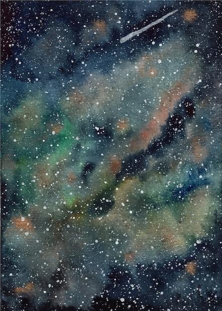 Aquarell universum hintergrund Premium Vektoren
