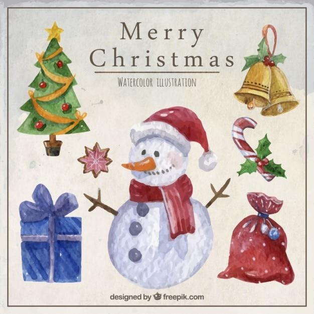 Aquarell weihnachten abbildungen download der kostenlosen vektor - Aquarell weihnachten ...
