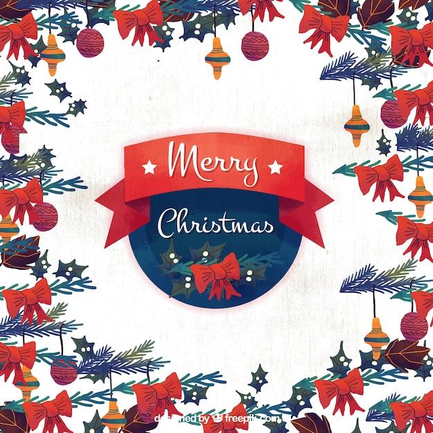 Aquarell weihnachten dekorativen hintergrund download - Aquarell weihnachten ...