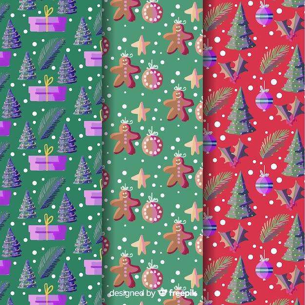 Aquarell weihnachten hintergrund sammlung Kostenlosen Vektoren