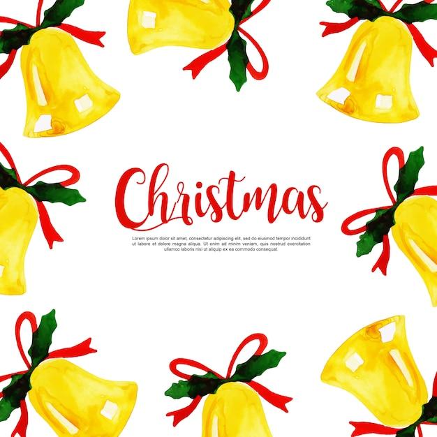 Aquarell weihnachten hintergrund Premium Vektoren