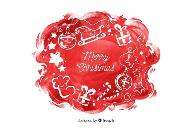 Aquarell weihnachten hintergrund Kostenlosen Vektoren