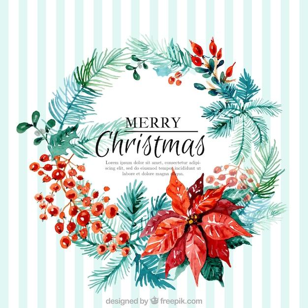 Aquarell weihnachten kranz hintergrund download der - Aquarell weihnachten ...