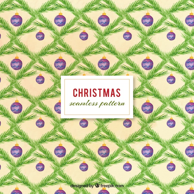 aquarell weihnachten muster mit kugeln download der. Black Bedroom Furniture Sets. Home Design Ideas
