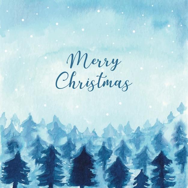Aquarell weihnachten winterlandschaft download der - Aquarell weihnachten ...