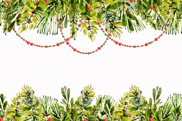 Aquarell weihnachtsbaum braches hintergrund Kostenlosen Vektoren