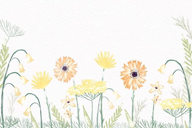 Aquarellblumen für tapete in den pastellfarben Kostenlosen Vektoren