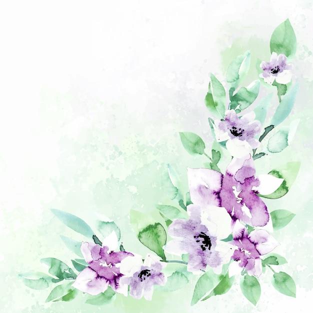 Aquarellblumenhintergrund in den pastellfarben Kostenlosen Vektoren