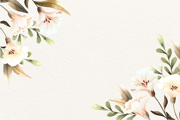 Aquarellblumenhintergrund mit weichen farben Kostenlosen Vektoren