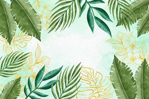 Aquarellblumenhintergrund Kostenlosen Vektoren