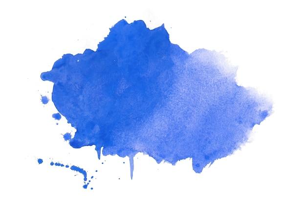 Aquarellfleckbeschaffenheit im blauen farbdesign Kostenlosen Vektoren