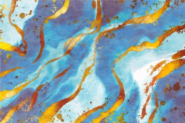 Aquarellhintergrund mit goldener folie Kostenlosen Vektoren