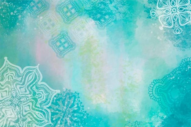 Aquarellhintergrund mit hand gezeichneten elementen Kostenlosen Vektoren