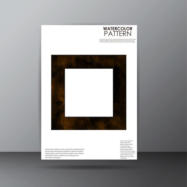 Aquarellmuster Deckblatt Design Download Der Kostenlosen Vektor