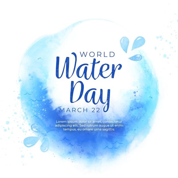 Aquarellweltwassertagillustration Kostenlosen Vektoren