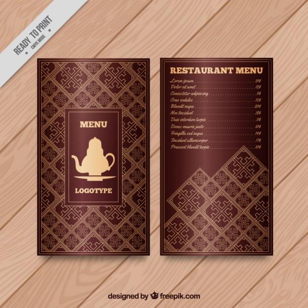 Arab-menü mit einer teekanne zeichnung Kostenlosen Vektoren