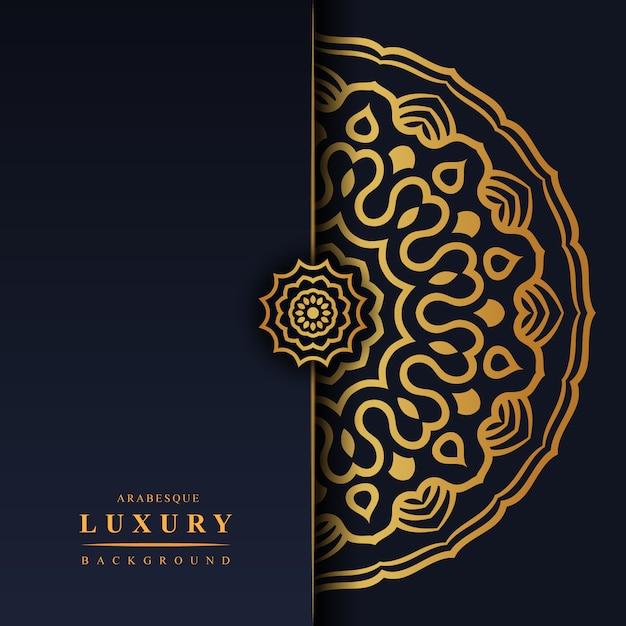 Arabesque luxus hintergrund Premium Vektoren
