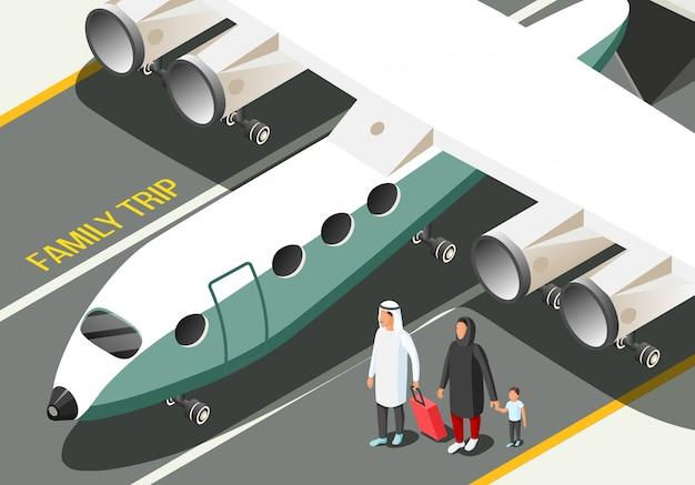 Arabische familienzusammensetzung Kostenlosen Vektoren