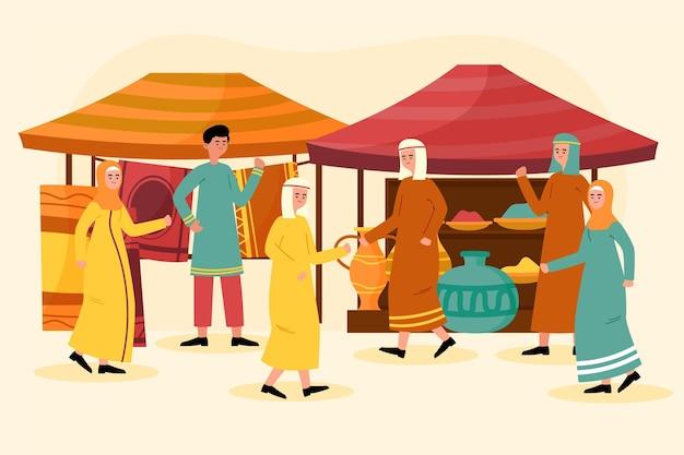 Arabisches basarkonzept Kostenlosen Vektoren