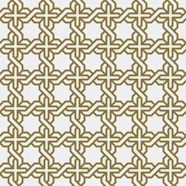 Arabisches geometrisches abstraktes kunst-dekomosaik-nahtloses muster Premium Vektoren