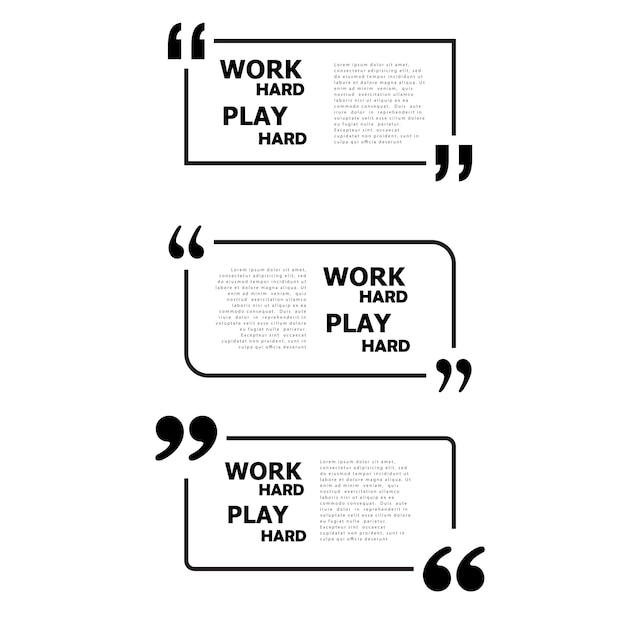 Arbeit hart spielen hart. Kostenlosen Vektoren